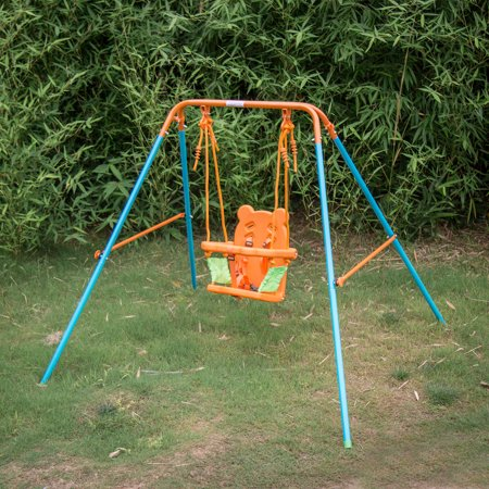 Kinbor Infant To Toddlers Backyard Outdoor Fun Play Swing Set
