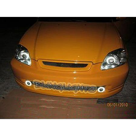 1996 1997 1998 1999 2000 Honda Civic Halo Foglamps Angel Eye Fog Lamps Driving Halos Lights Kit