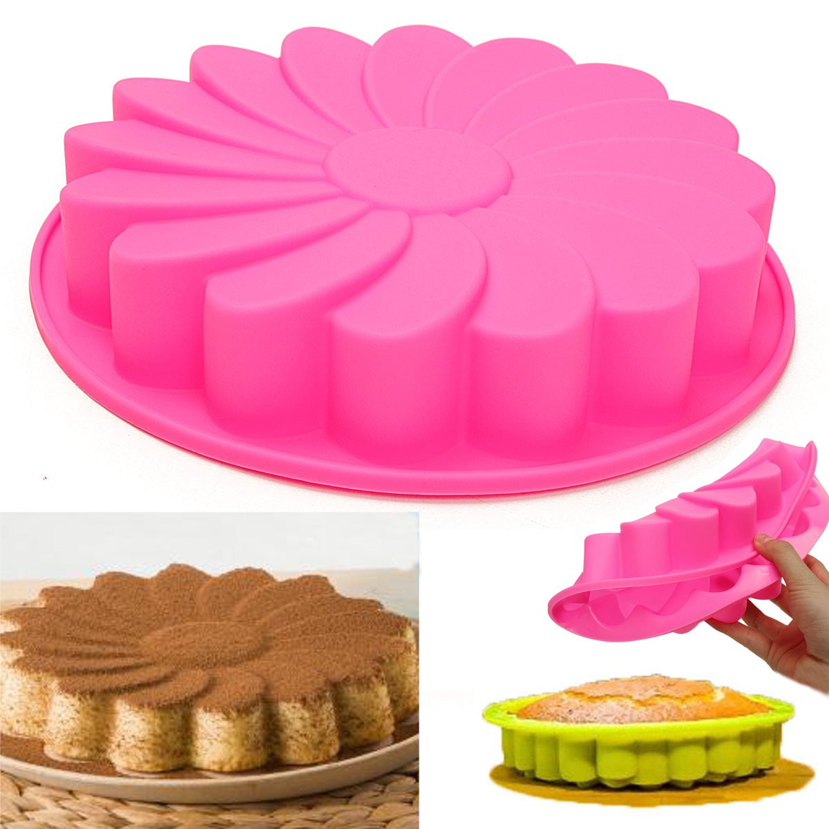 "Meigar 9"" Large Round Silicone Flower Cake Bakeware Baking Cup Pan Cupcake Liner Mold Today's Special Offer! by"