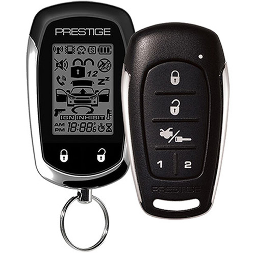 Audiovox Prestige APS997E 2-Way Paging Remote Start Keyless Entry Vehicle Security System with 5-Button LCD Remote
