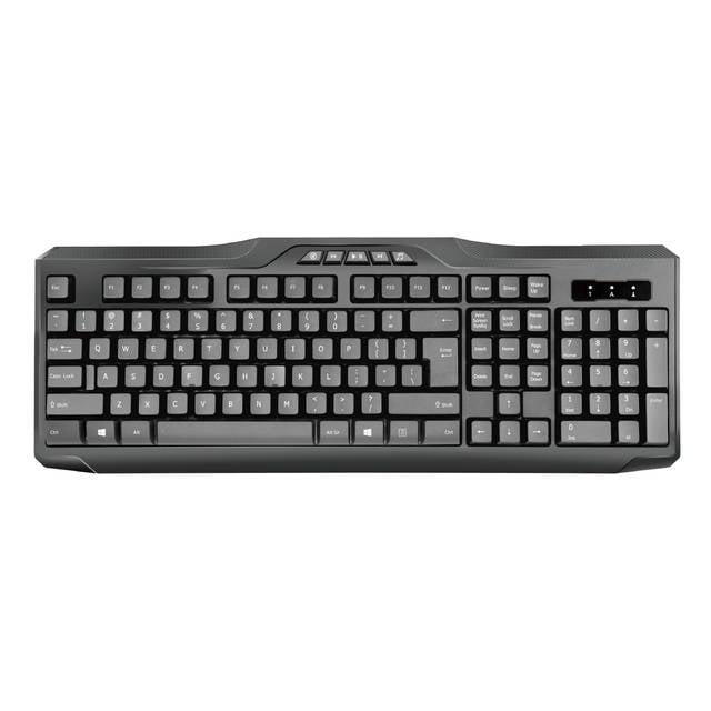 iMicro Multimedia Wired USB English Keyboard (Black) KB-US9851M