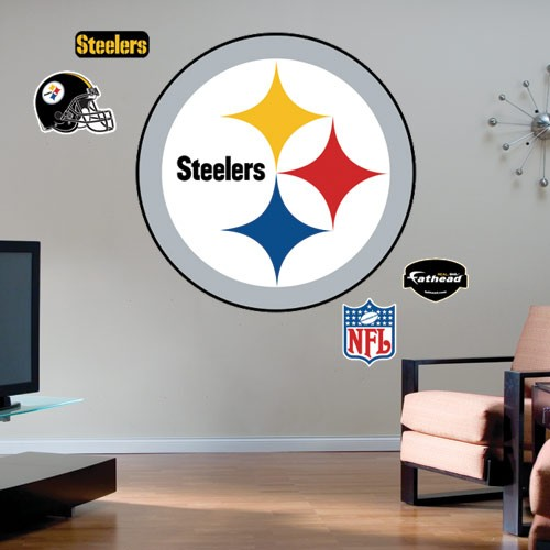 Pittsburgh Steelers Team Logo Fathead Wall Sticker - No Size