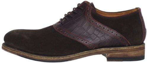 Blackstone Men's Marty Saddle Shoe,Dark Brown,45 M EU/11 M US