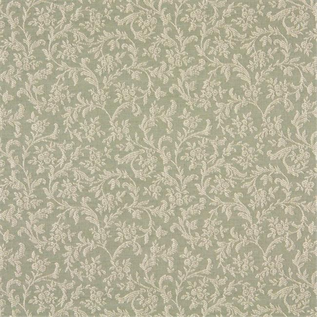 Designer Fabrics A150 54 inch Wide Gray And Silver Foliage And Flowers Upholstery Fabric