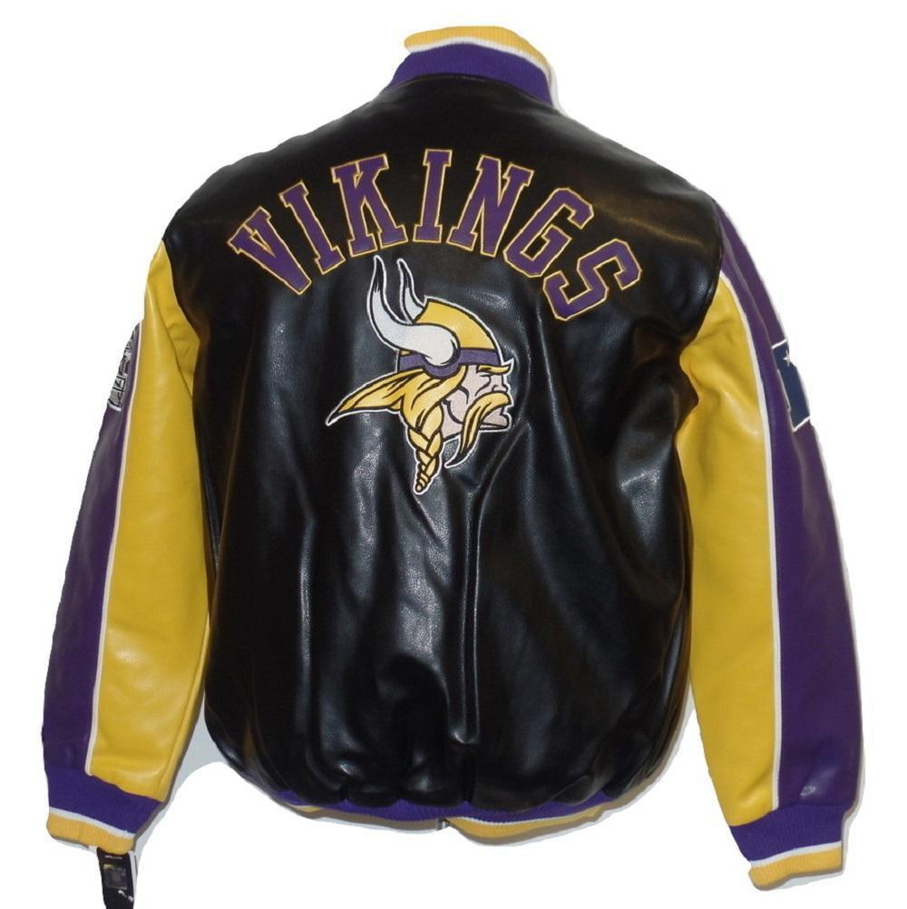 "Minnesota Vikings ""Leather Legend"" Faux Leather PVC Jacket by G-III Sports"