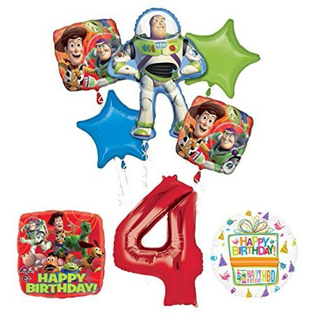 Toy Story 4th Birthday Party Supplies and Balloon Bouquet - Toy Story Balloons