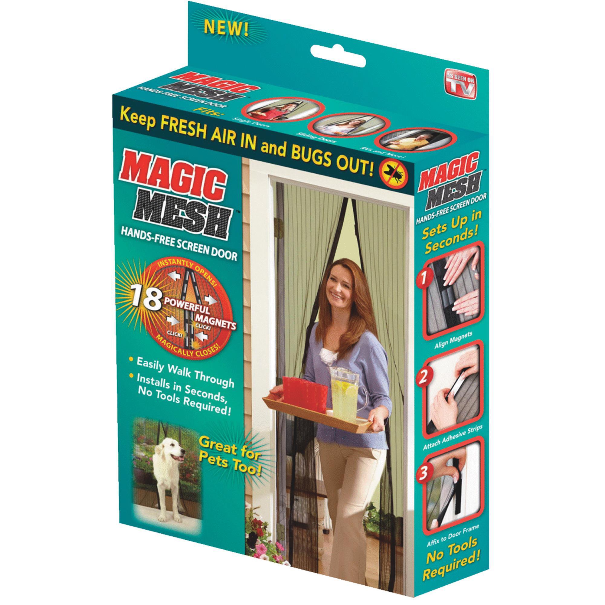 Magic Mesh Magnetic Hands Free Screen Door Cover As Seen