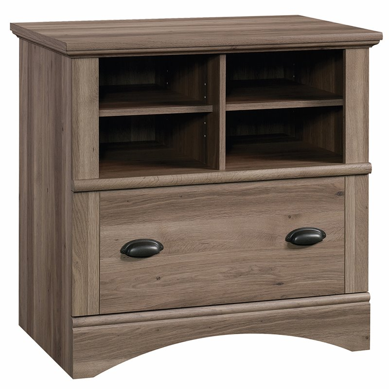 Pemberly Row 1 Drawer Lateral File Cabinet in Salt Oak