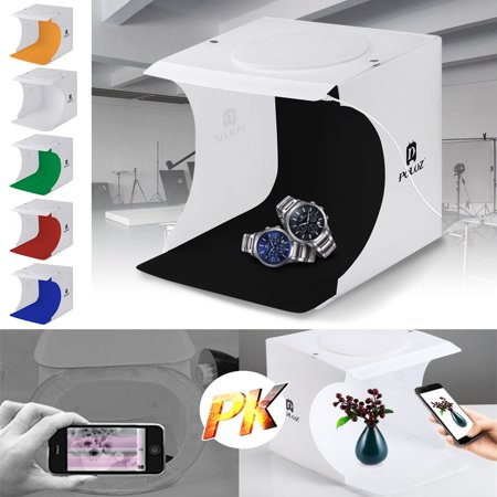 Portable Foldable Mini Studio Photography Light Box Tent Kit with 5 Color Backgrounds, Mini Photo Studio, Light Room