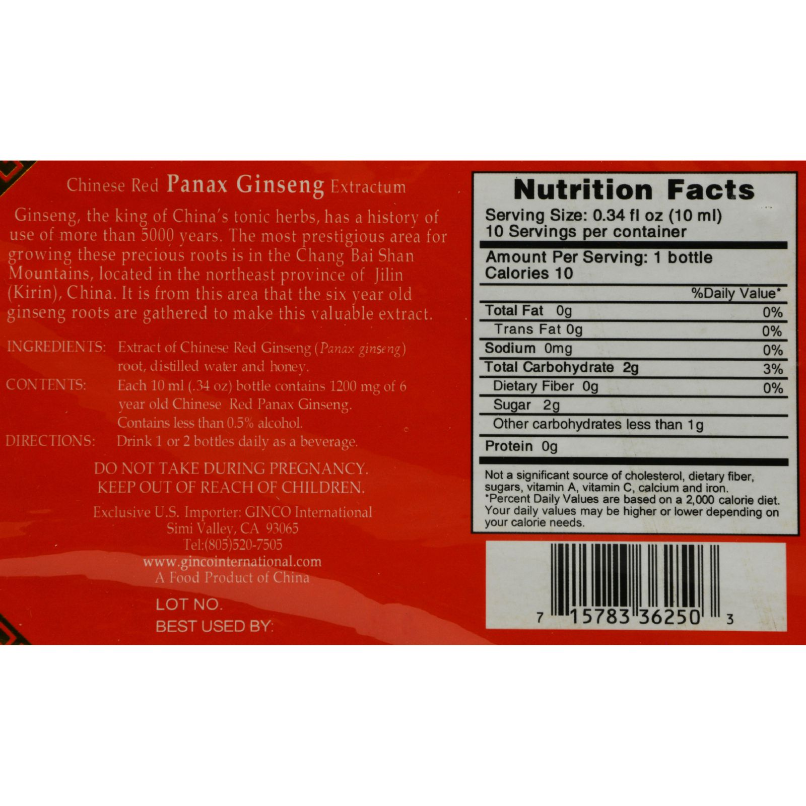 Imperial Elixir Chinese Red Panax Ginseng Extractum