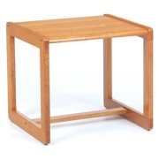 End Table w Sled Base - Classic (Natural)