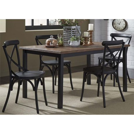 Odnbg Ffffff Odnbound 460 Liberty Furniture Vintage Cinci Piece Metal Dining Set