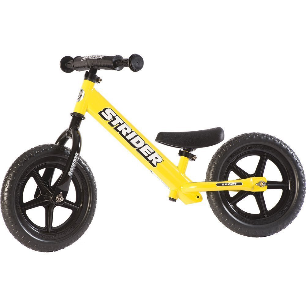 STRIDER 12 Sport Balance Bike, Yellow