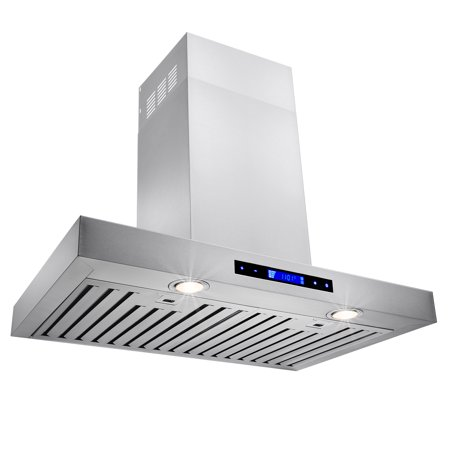 "Image of AKDY 30"" Stainless Steel Wall Mount Powerful Range Hood Kitchen Stove Vents Touch Panel with Remote Control"