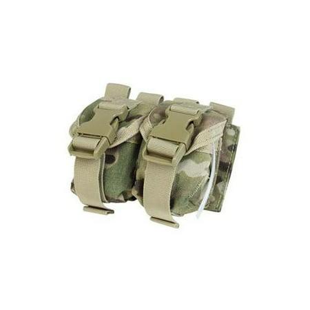 Flashbang Grenade Pouch - Condor Double Frag Grenade Pouch, Multicam