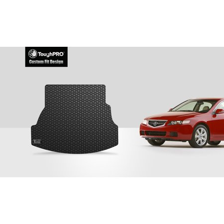 Acura Tsx Trunk Tray - ToughPRO - ACURA TSX Trunk Mat - All Weather - Heavy Duty - Black Rubber - 2004