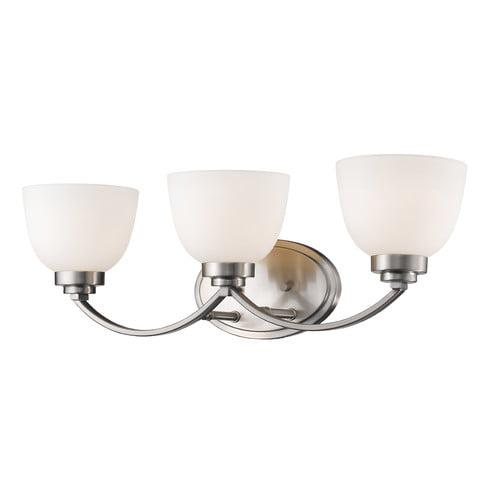 Winston Porter Kepner 3 Light Glass Shade Vanity Light Walmartcom