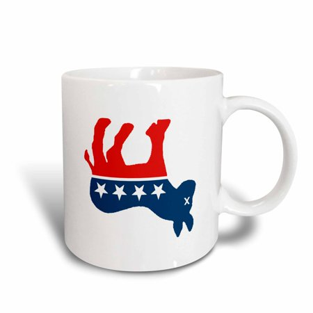 3dRose Dead Liberal Mascot, Ceramic Mug, 11-ounce