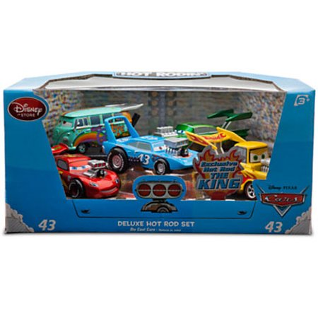 Disney Cars Deluxe Hot Rod Set Exclusive 1:43 Diecast Car 5-Pack [Blue Pack]