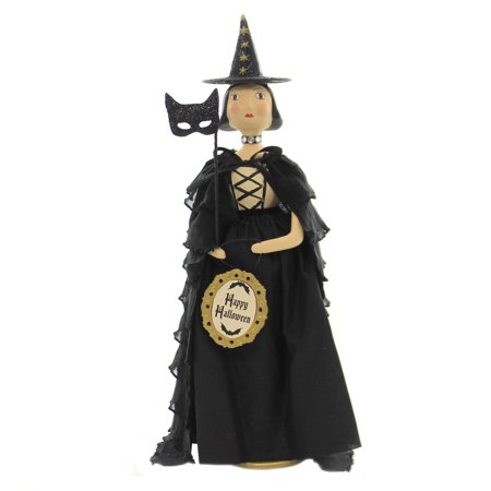 Halloween ESMERELDA Polyresin Witch Black Cat Mask 55266.