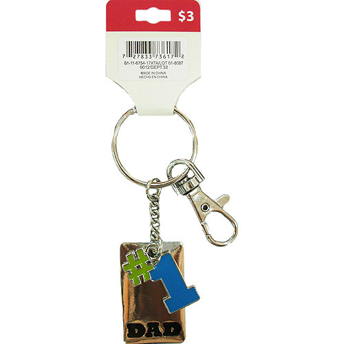 Blue and Green #1 Dad Key Ring