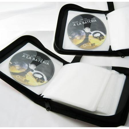 48 Capacity - CD Holder DVD Case Storage Wallet Disc Media Book DJ Organizer ( 1 Item Only (48 Capacity Cd / Dvd)