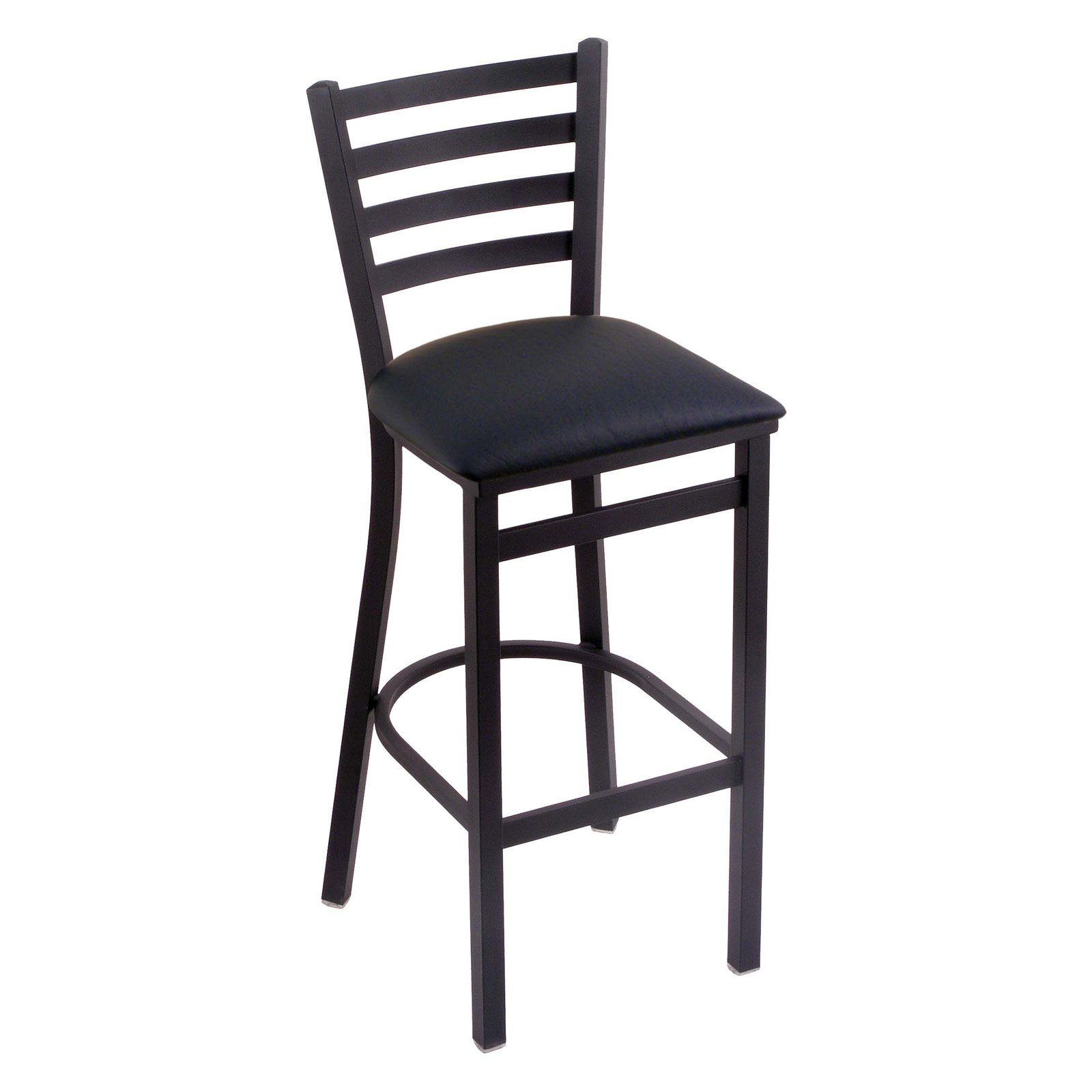 Holland Bar Stool Jackie 30 in. Bar Stool with Faux Leather Seat - Black Wrinkle