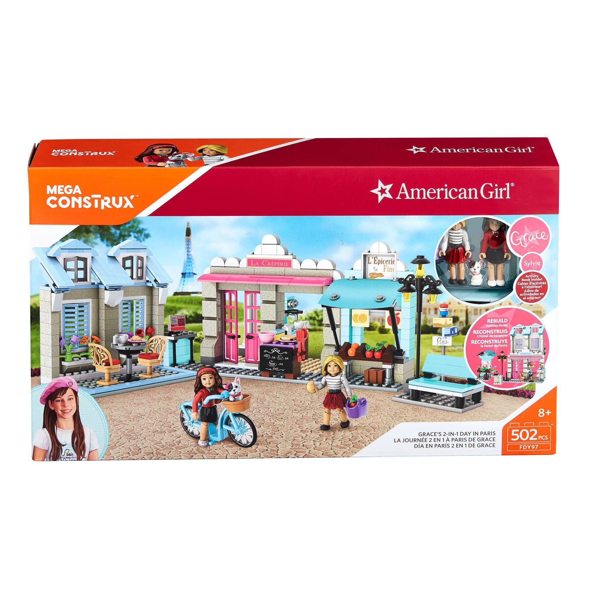Mega Construx American Girl Grace's 2-In-1 Paris Promenade Construction Set by Mattel