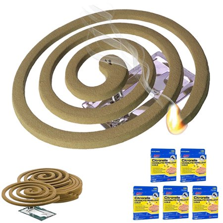 5PK Mosquito Repellent 20 Coils Outdoor Use Lasts 5-7 Hours 10Ft Outdoor