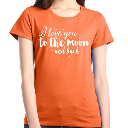 f4e8159e3 Shop4Ever Women's Love You to the Moon Valentine's Day Couples Graphic T- Shirt