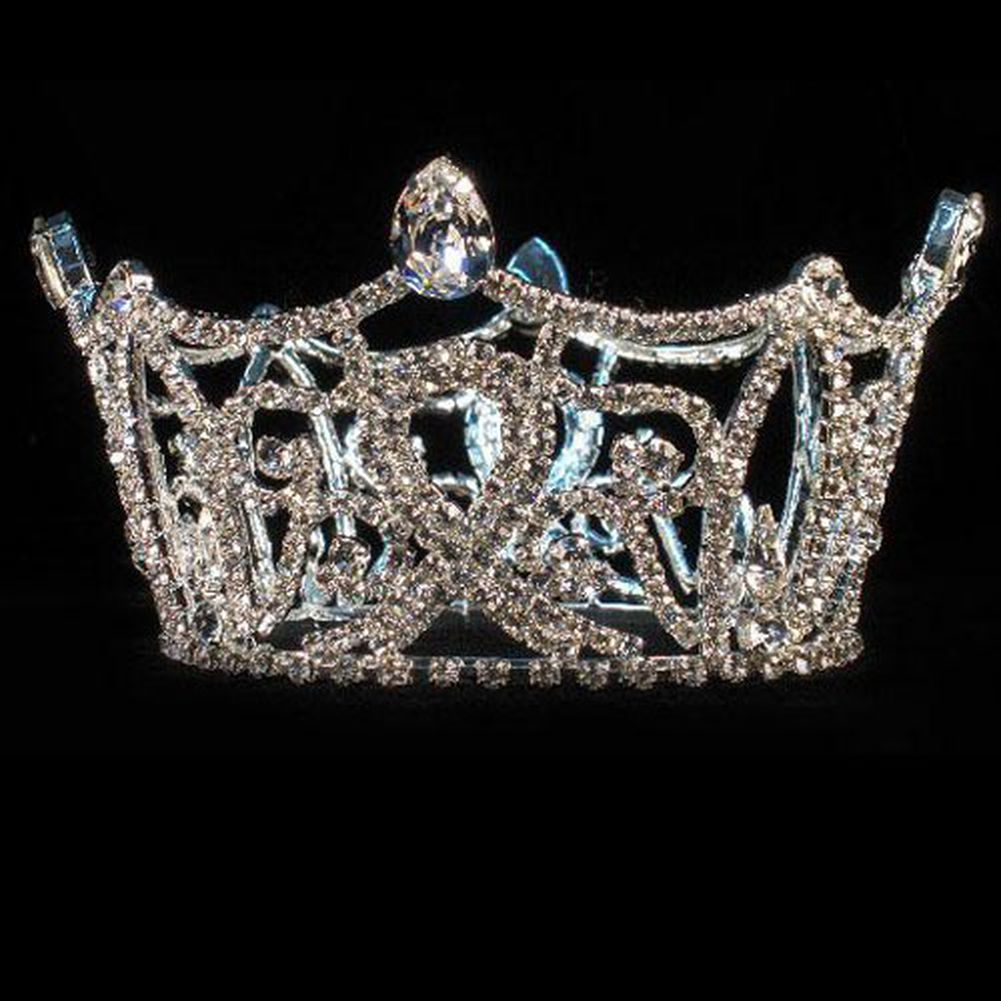 Futuron Girls Silver Full Round Pageant Quinceanera Commu...