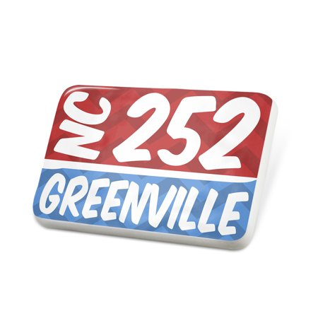 Porcelein Pin 252 Greenville, NC red/blue Lapel Badge – NEONBLOND