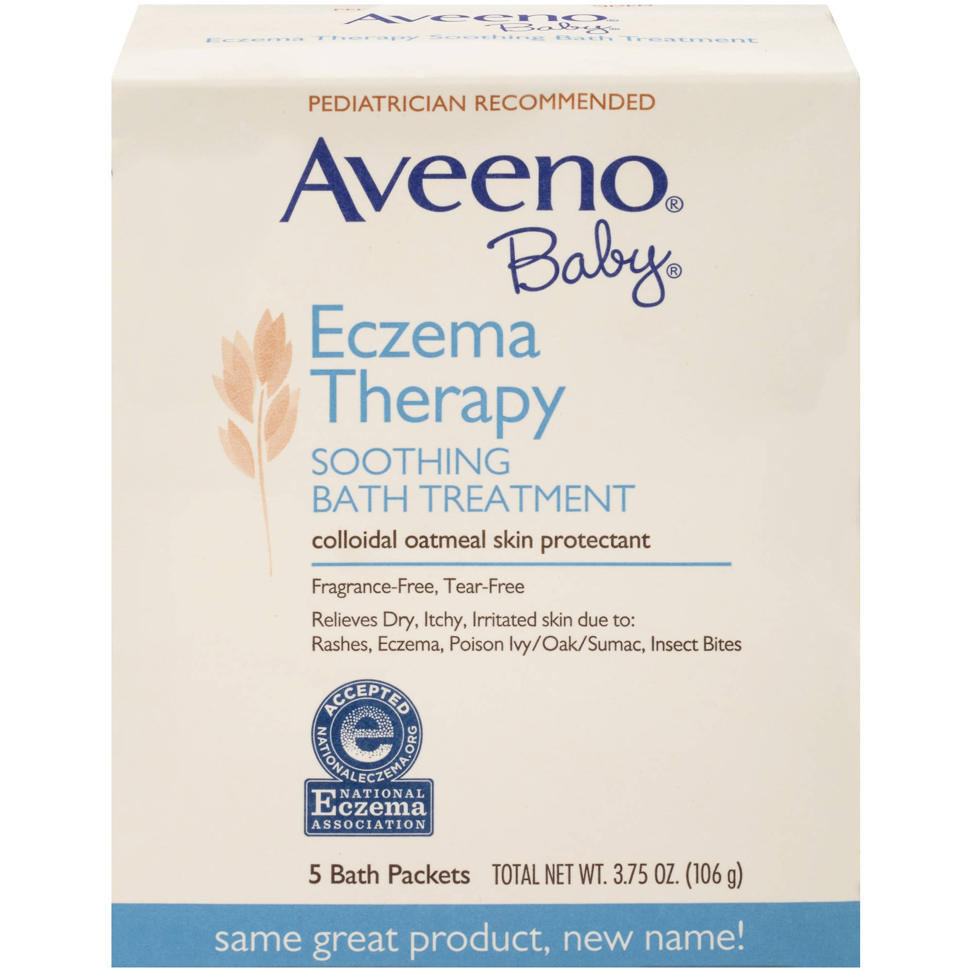 Aveeno Baby Eczema Therapy Soothing Bath Treatment, 5 Count