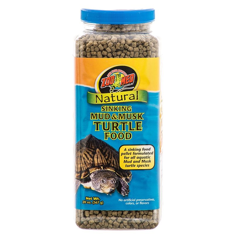Zoo Med Natural Sinking Mud & Musk Turtle Food 20 oz by ZOO MED LABS INC