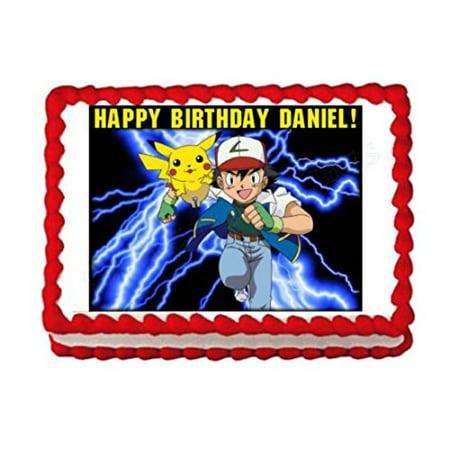 POKEMON party edible cake image cake topper frosting sheet - Pokemon Birthday Cake