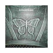 Outdoor Chimenea Fireplace - Butterfly in Antique Green Finish (Without Gas)