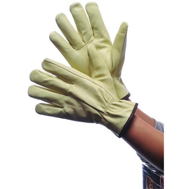 DDI 1819597 Leather Pig Skin Driver Gloves With Lining, Large