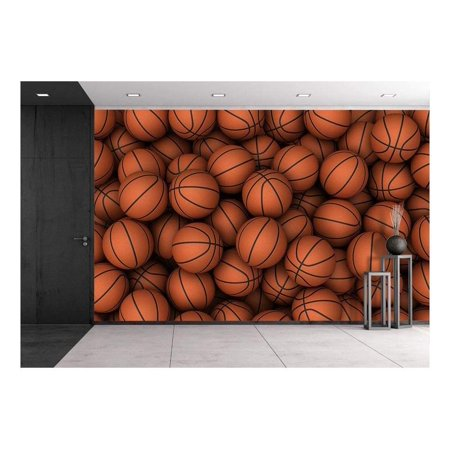 wall26 - Basketball - Removable Wall Mural | Self-adhesive Large Wallpaper - 66x96 inches