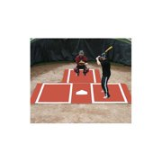 ProMounds Clay Colored Batting Mat Pro with Catcher's Extension