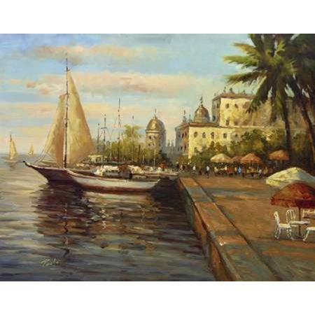 Bolo Santo Domingo Harbor - Santo Domingo Harbor Rolled Canvas Art - Bolo (11 x 14)