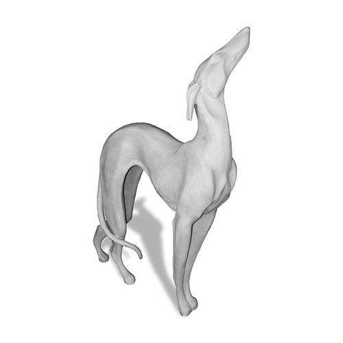 Amedeo Design ResinStone Standing Greyhound Garden Statue