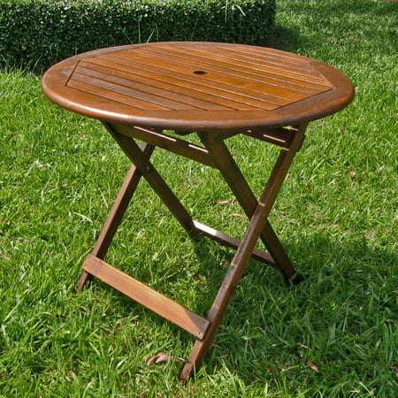 60 Inch Round Patio Table (Highland Acacia 32-inch Round Folding)