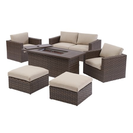 Better Homes & Gardens Harbor City 6-Piece Patio Fire Pit Table Set