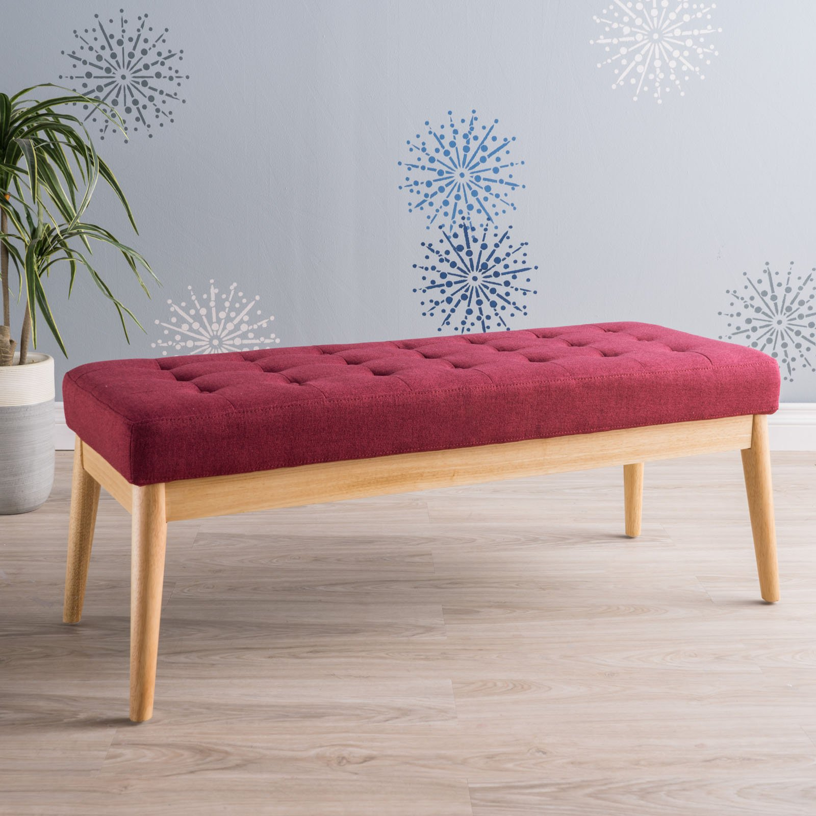 Saxon Fabric Indoor Bench