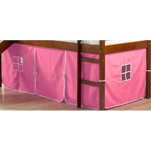 Zoomie Kids Innis Curtain Set for Twin Loft Bed