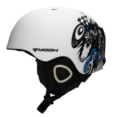 Moon Skiing Helmet Adult Kid Equipment Autumn Winter Snow Skating Sports Integrally Molded Outdoor Ultralight Matte Saftly Snowboard Helmets S