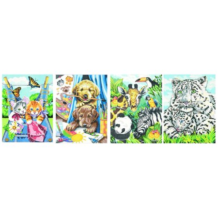 Friendly Animals Variety Pack Pencil by Number (4