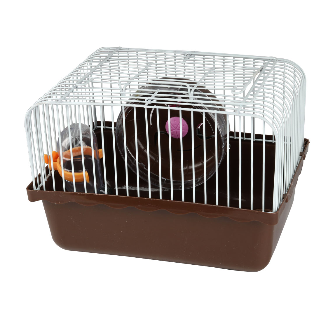 Plastic Rectangle Pet Squirrel Cat Bed House Holder Puppy Basket Carrier Brown