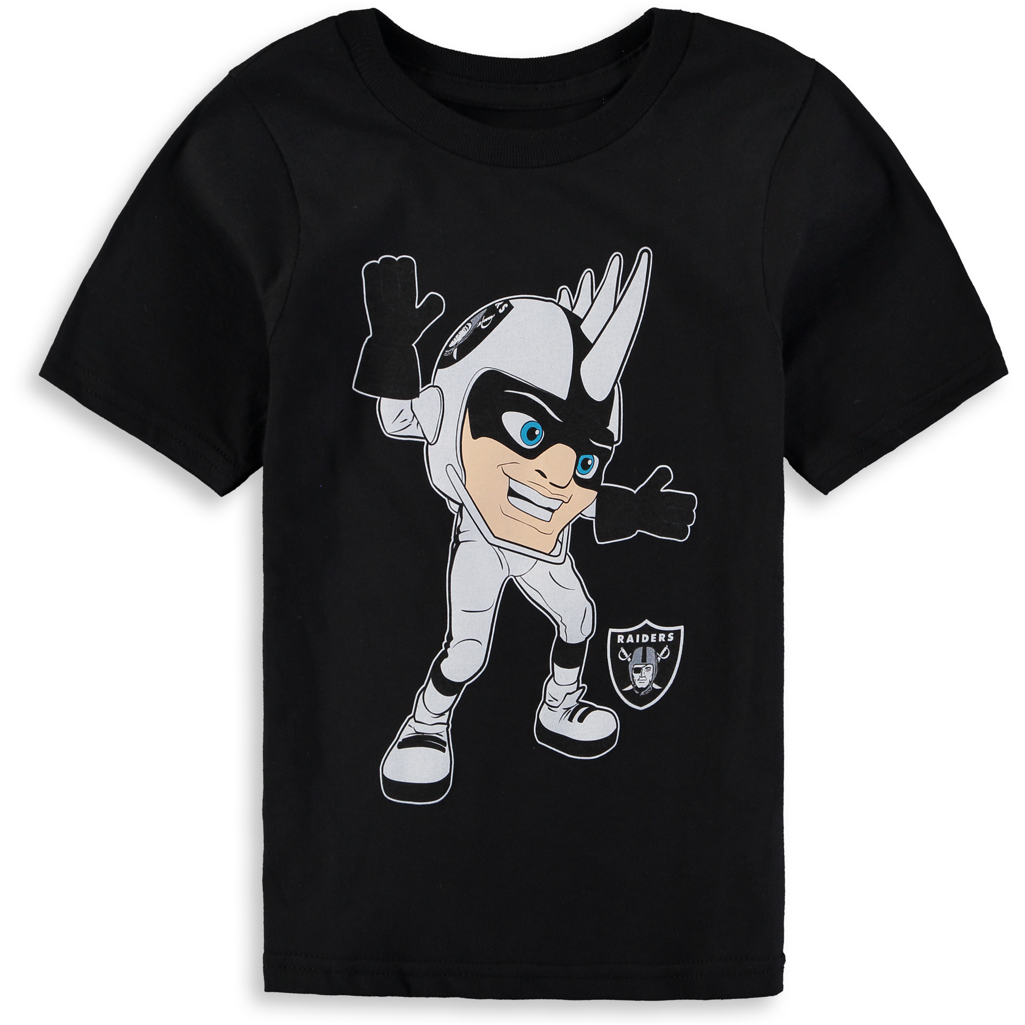 Oakland Raiders Preschool Standing Mascot T-Shirt - Black