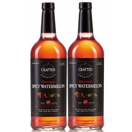 (2 Bottles) Crafted Cocktails Spicy Watermelon Cocktail Mix, 1 L (Spicy Cocktail)
